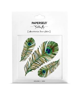 Tatouage éphémère - Peacock Feather
