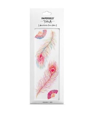 Tatouage éphémère - Pink Feathers