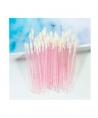 Bâtonnets embout mousse pailletés rose