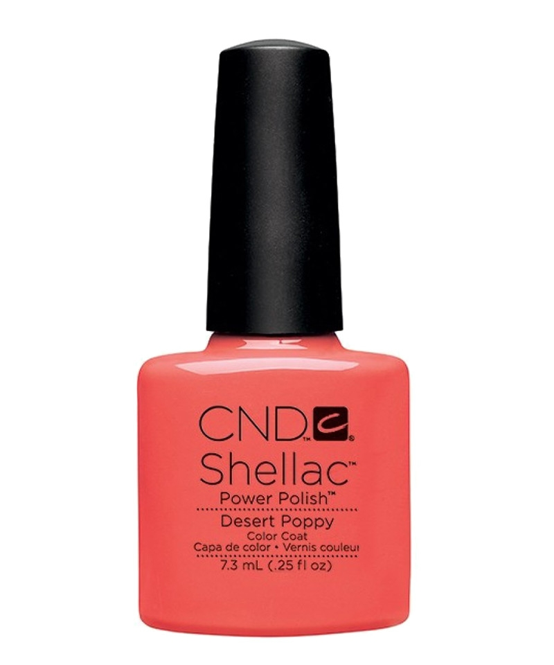 shellac desert poppy vernis semi permanent open road. Black Bedroom Furniture Sets. Home Design Ideas